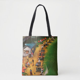Golf Driving Range by John Falter Tote Bag