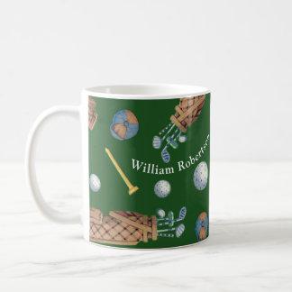 Golf Equipment Teed Off Add Name Coffee Mug