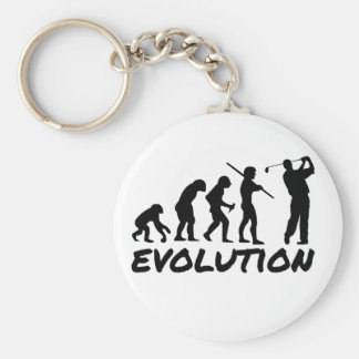Golf Evolution Basic Round Button Keychain