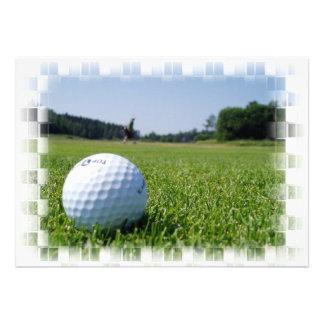 Golf Fairway Inviation Invitations