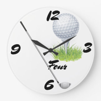 Golf Four Large Clock