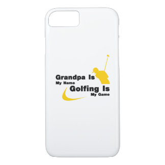 Golf Funny Grandpa Is My Name Golfing Is My Game Case-Mate iPhone Case