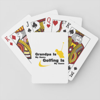 Golf Funny Grandpa Is My Name Golfing Is My Game Playing Cards
