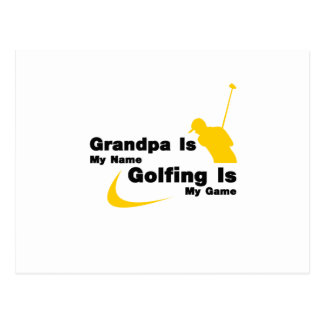 Golf Funny Grandpa Is My Name Golfing Is My Game Postcard