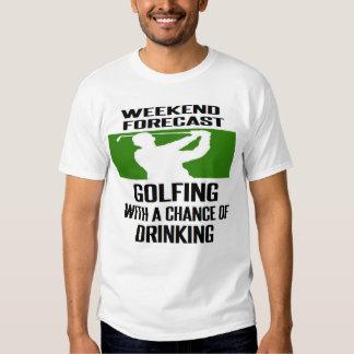 #golf #golfer #golfing WEEKEND FORECAST Tshirts