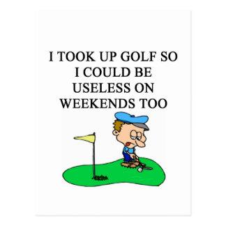 GOLF golfer joke Postcard