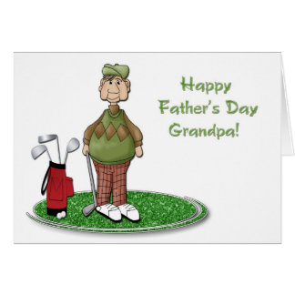 Golf Grandpa Father's Day Card