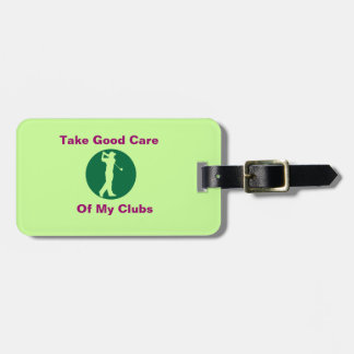 """Golf  Green """"Light Green"""" Personalized Bag Tag"""
