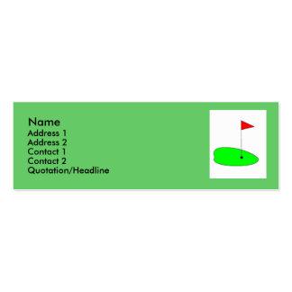 Golf green profile card mini business card