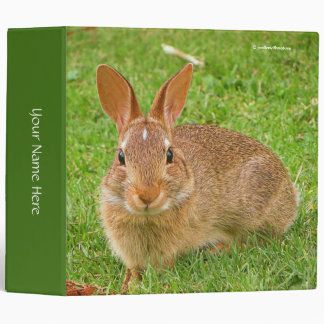 Golf Groundskeeper Bunny 3 Ring Binder