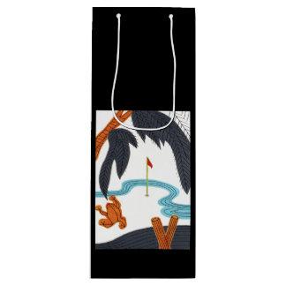 Golf Hanafuda Wine Gift Bag