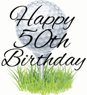 Golf Happy 50th Birthday Balls