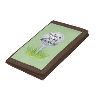 Golf Happy 50TH Trifold Wallet