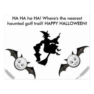 Golf  Haunted Halloween Golf Trail post card