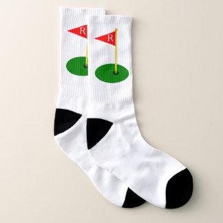 Golf Hole Flag Monogram Socks