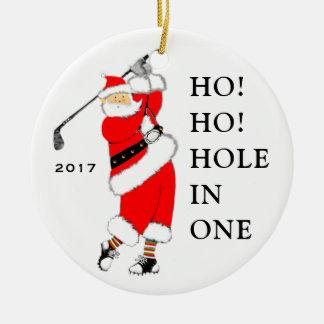 Golf Hole-in-one Ceramic Ornament