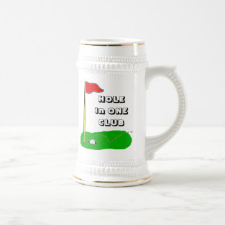 Golf Hole in One Club Custom Bragging Beer Stein