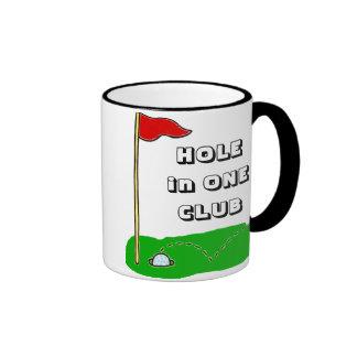 Golf Hole in One Club Customizable Ringer Mug