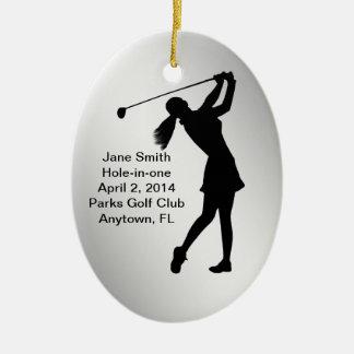 Golf Hole-in-one Commemoration Customizable Ceramic Ornament