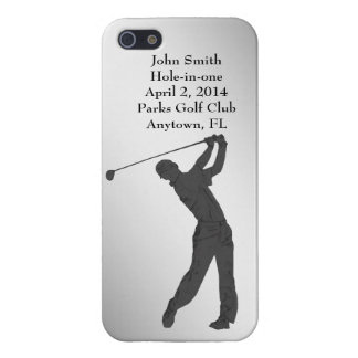 Golf Hole-in-one Commemoration Customizable Cover For iPhone 5/5S