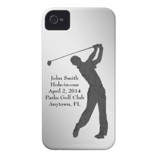 Golf Hole-in-one Commemoration Customizable iPhone 4 Case-Mate Cases