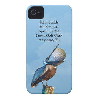 Golf Hole-in-one Commemoration Customizable iPhone 4 Cases