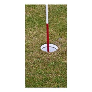 Golf hole photo greeting card