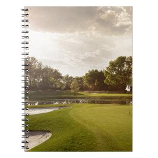 Golf hole spiral notebooks