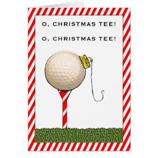 Golf Holiday Greeting Card
