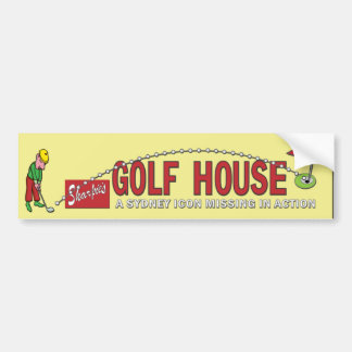 Golf house sticker bumper sticker