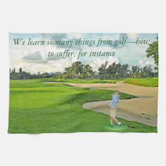 Golf—how to suffer kitchen towel