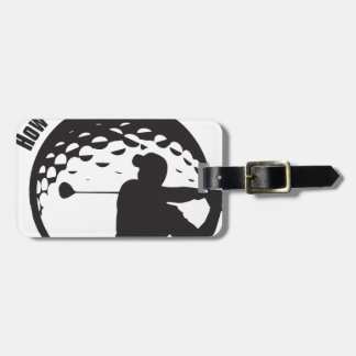 Golf How's My Driving Grandpa Dad Golfer Luggage Tag