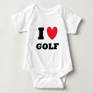 Golf.  I Love Golf. Baby Bodysuit