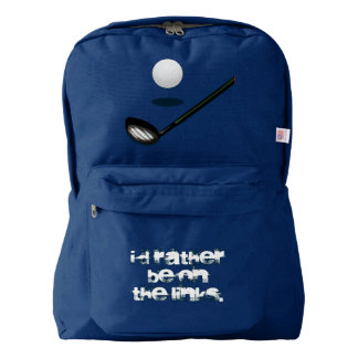 Golf I'd Rather Be on the Links Backpack
