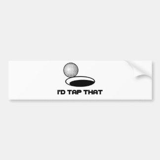 Golf I'd Tap That Bumper Sticker