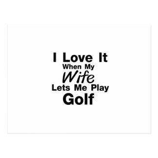 Golf is For Me Funny Gift Golfing Golfer Cool Postcard
