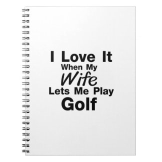 Golf is For Me Funny Gift Golfing Golfer Cool Spiral Notebook