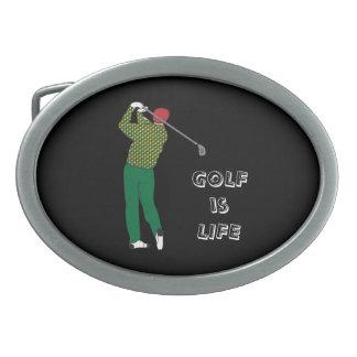 GOLF is LIFE, Golfer, Club, Golf Quote Belt Buckle