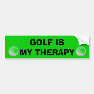 Golf is my Therapy Bumper Sticker
