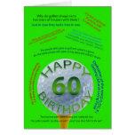 Golf Jokes birthday card for 60 year old
