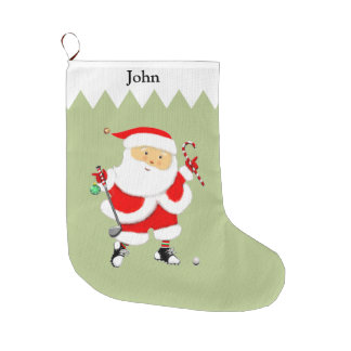 Golf Large Christmas Stocking