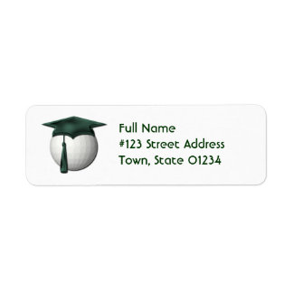Golf Lessons Return Address Mailing Label
