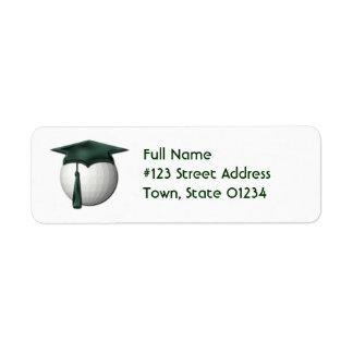 Golf Lessons Return Address Mailing Label Return Address Label