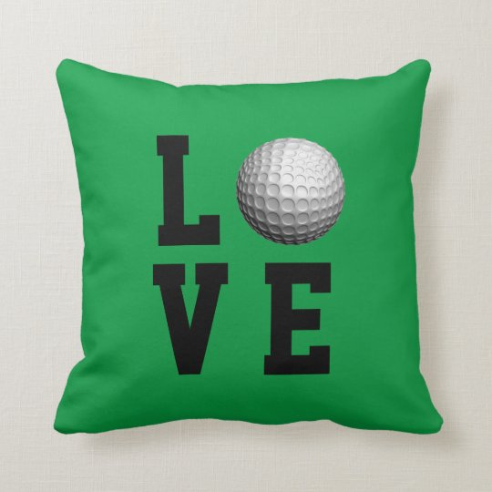 Golf Love Customizable Throw Pillow