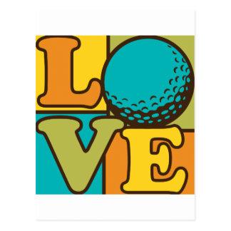 Golf Love Postcard