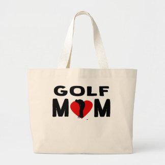 Golf Mom Large Tote Bag