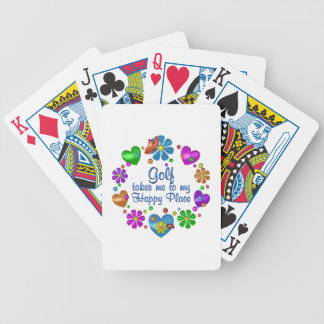 Golf My Happy Place Bicycle Playing Cards