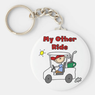 Golf My Other Ride Basic Round Button Keychain