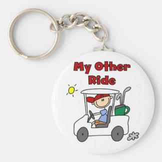 Golf My Other Ride Keychain