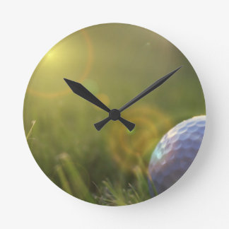 Golf on a Sunny Day Clock